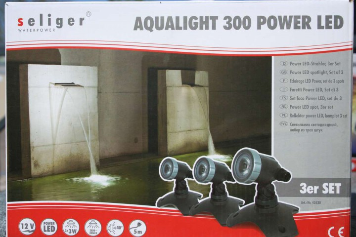 Gartenstrahler Aqualight 300 Power LED Komplett Set